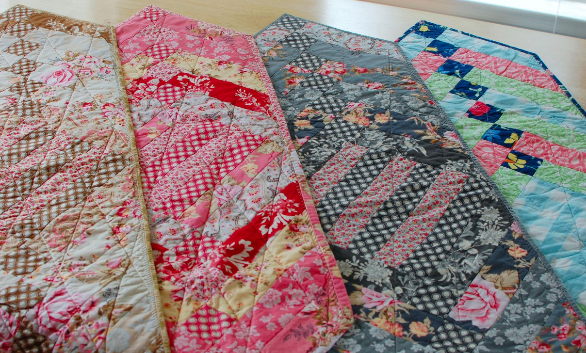 Free Quilt Pattern Simple French Braid Table Runner Table