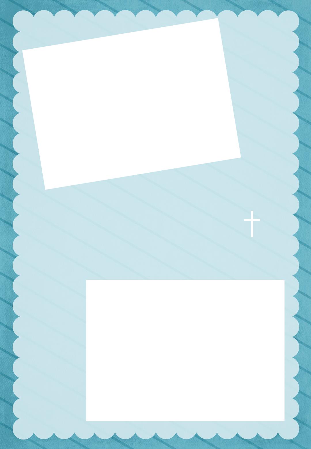 free printable baptism christening invitation stamped frame blue