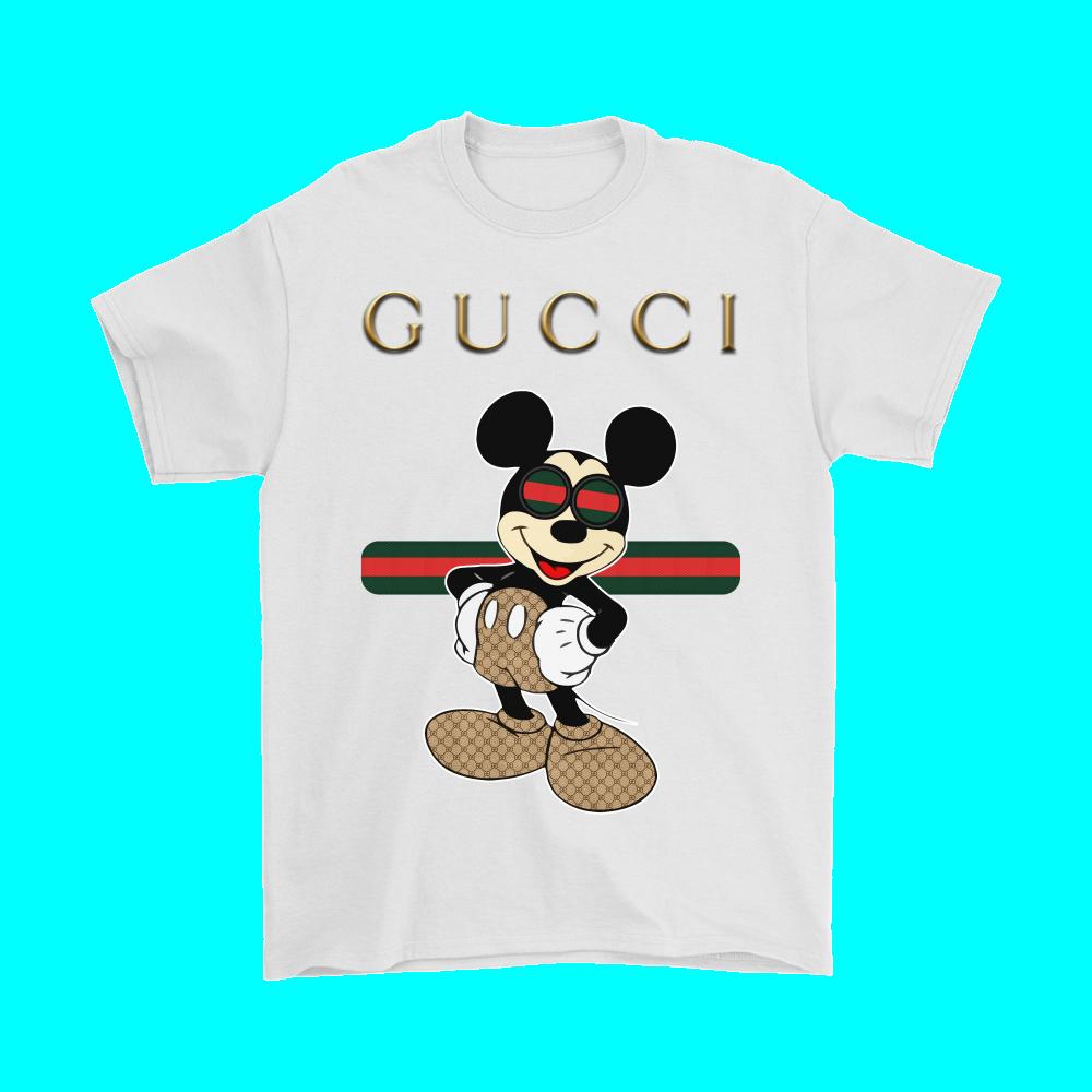 Gucci Stripe Happy Stylish Mickey Mouse Shirts