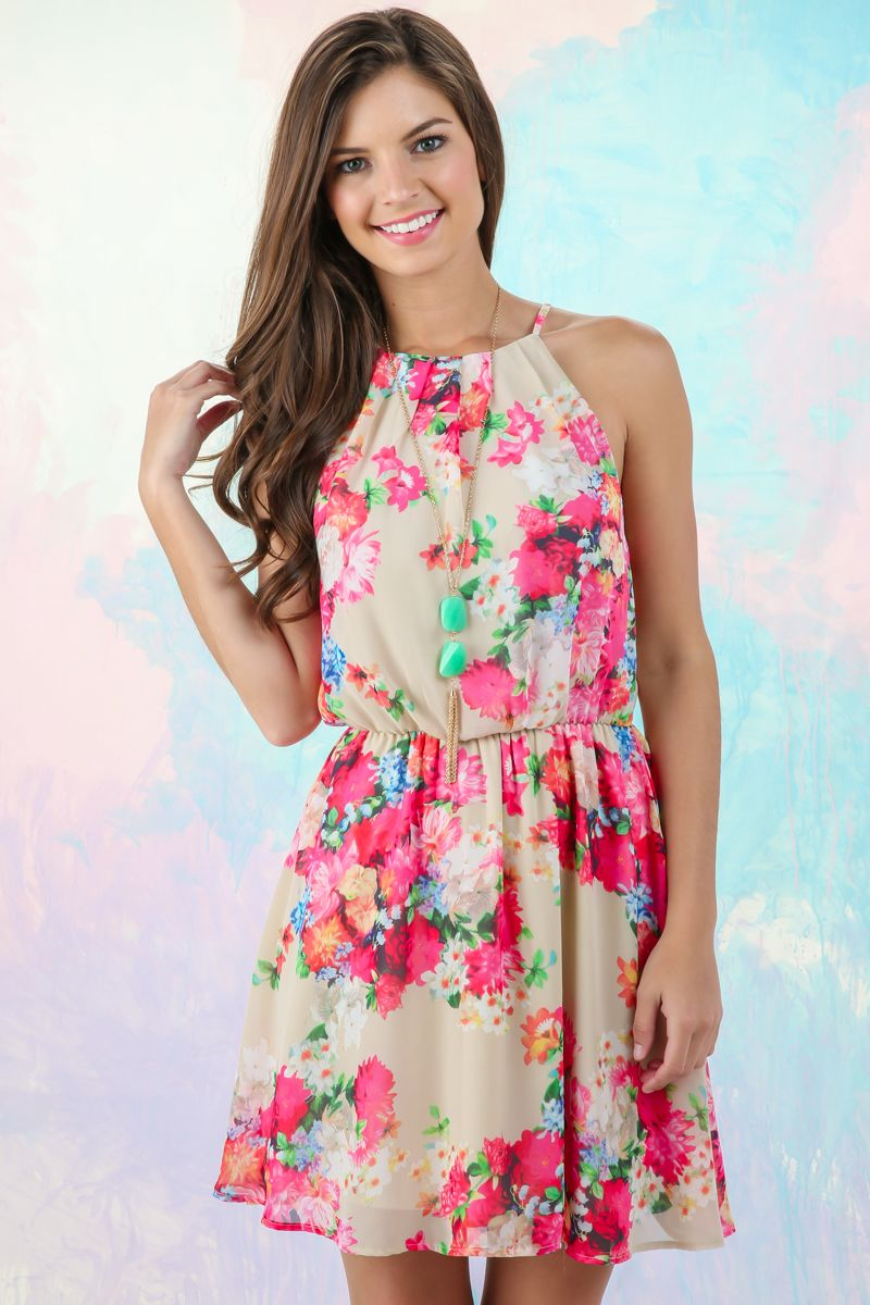 Spring is all about florals! Snag your floral sundress before its gone! Love, love, love!