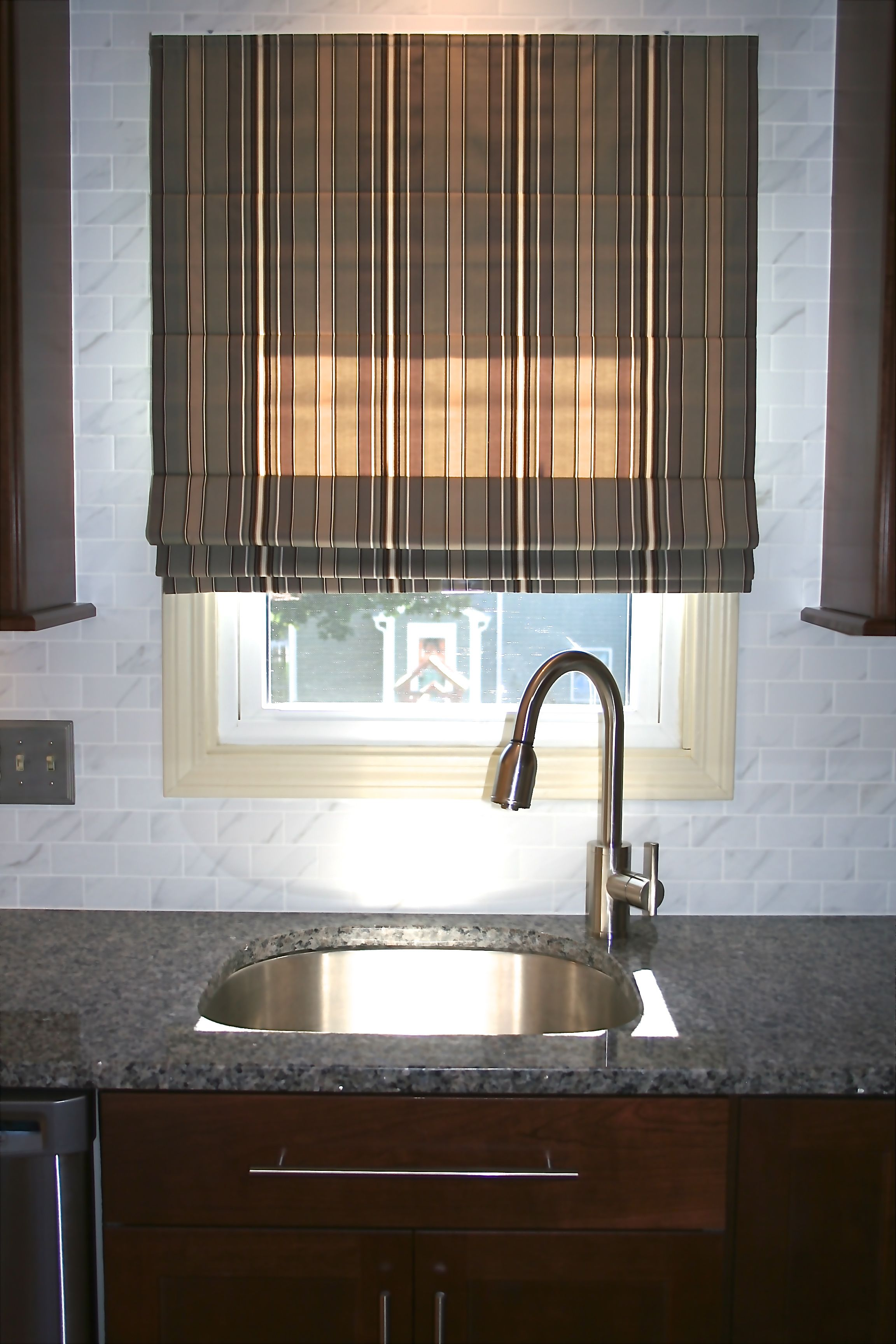 Waypoint Cabinetry in Cherry Spice, Danze Parma faucet, Daltile in ...