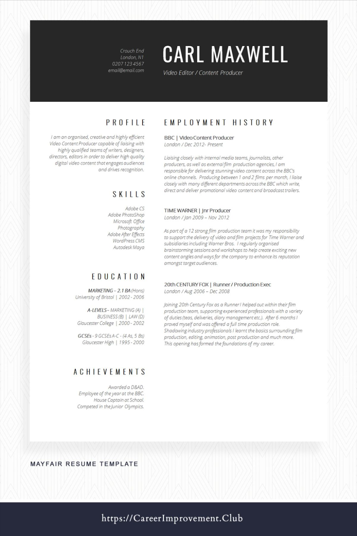 This Simple Yet Professional Resume Example Will Help Your Job