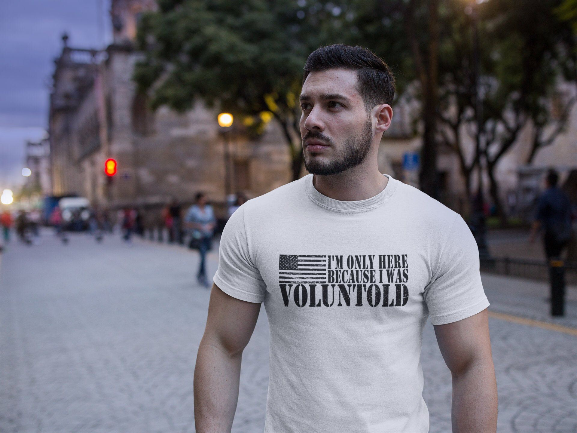 Im only here because I was VOLUNTOLD Unisex TShirt