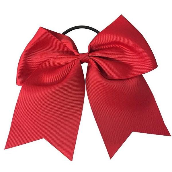 Softball Hair Bow Red Cheer Hair Bows How To Make Bows Ribbon Bow Tutorial
