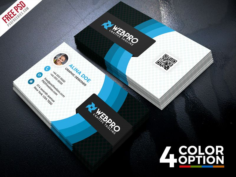 This Corporate Business Card Free Psd Set Suitable For Creative Agency Digital Studio Or Personal Branding Freebie Included With