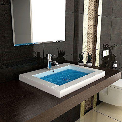 Schön Modern Badezimmer Hochglanz Waschbecken Handwaschbecken Aus Mineralguss 60  Cm Breit Gäste WC