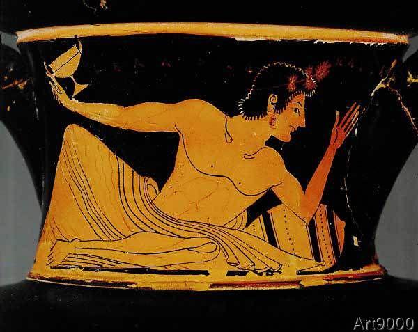 Griechische Vasenmalerei - Symposiast / Vase painting / Euphronios