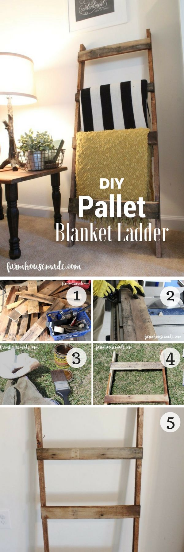 18 easy diy pallet project ideas for rustic home decor blanket ladder pallet wood and pallets