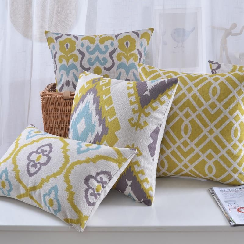 pas cher style nordique coussin d coratif g om trique. Black Bedroom Furniture Sets. Home Design Ideas