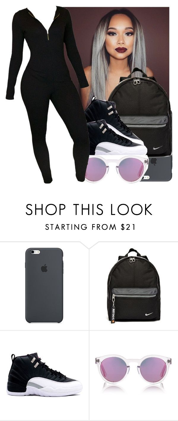 """""""Yes I'm spamming ✨"""" by jordanv ❤ liked on Polyvore featuring NIKE and Sunday Somewhere"""