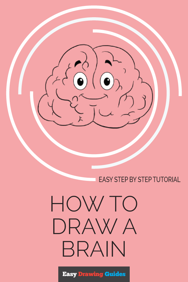 How to Draw a Brain - Really Easy Drawing Tutorial ...