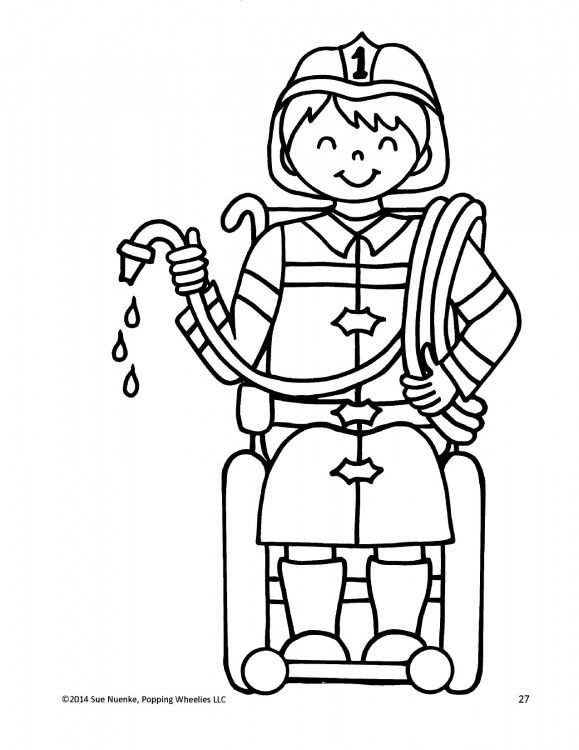 children with disabilities coloring pages - photo#21