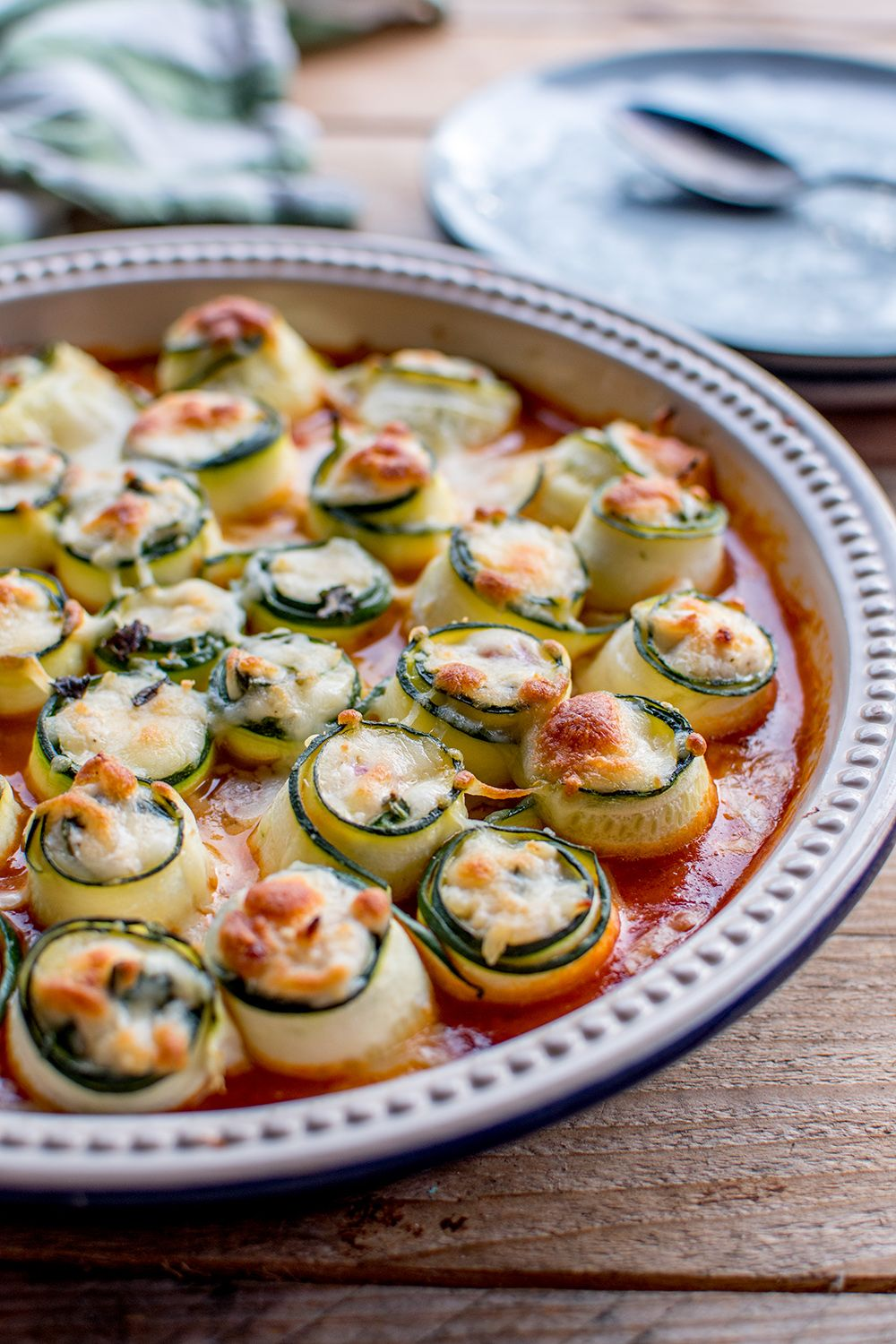 Zucchini-Cannelloni mit Ricotta-Spinat-Füllung: Sommersoulfood ahoi #spinatlasagne
