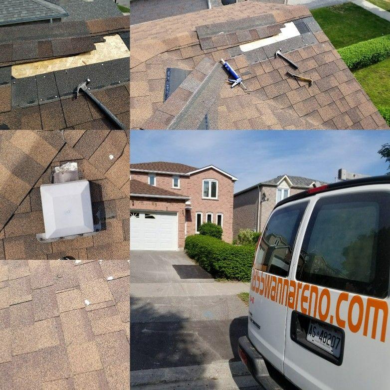 Roof repair done in Ajax. roof roofing roofrepairwhitby