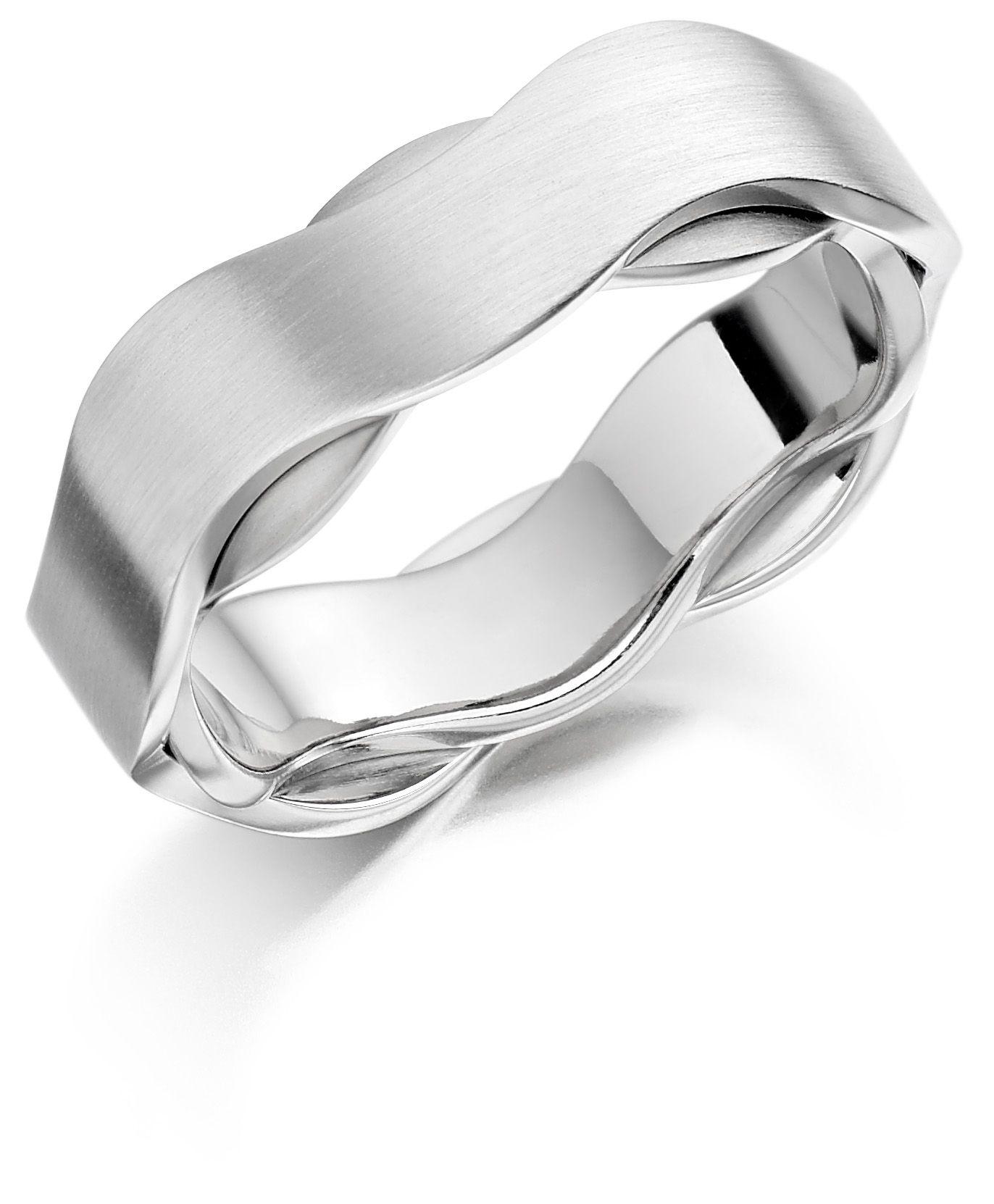 Platinum 18ct white gold 65mm Iniga wedding ring Hatton garden