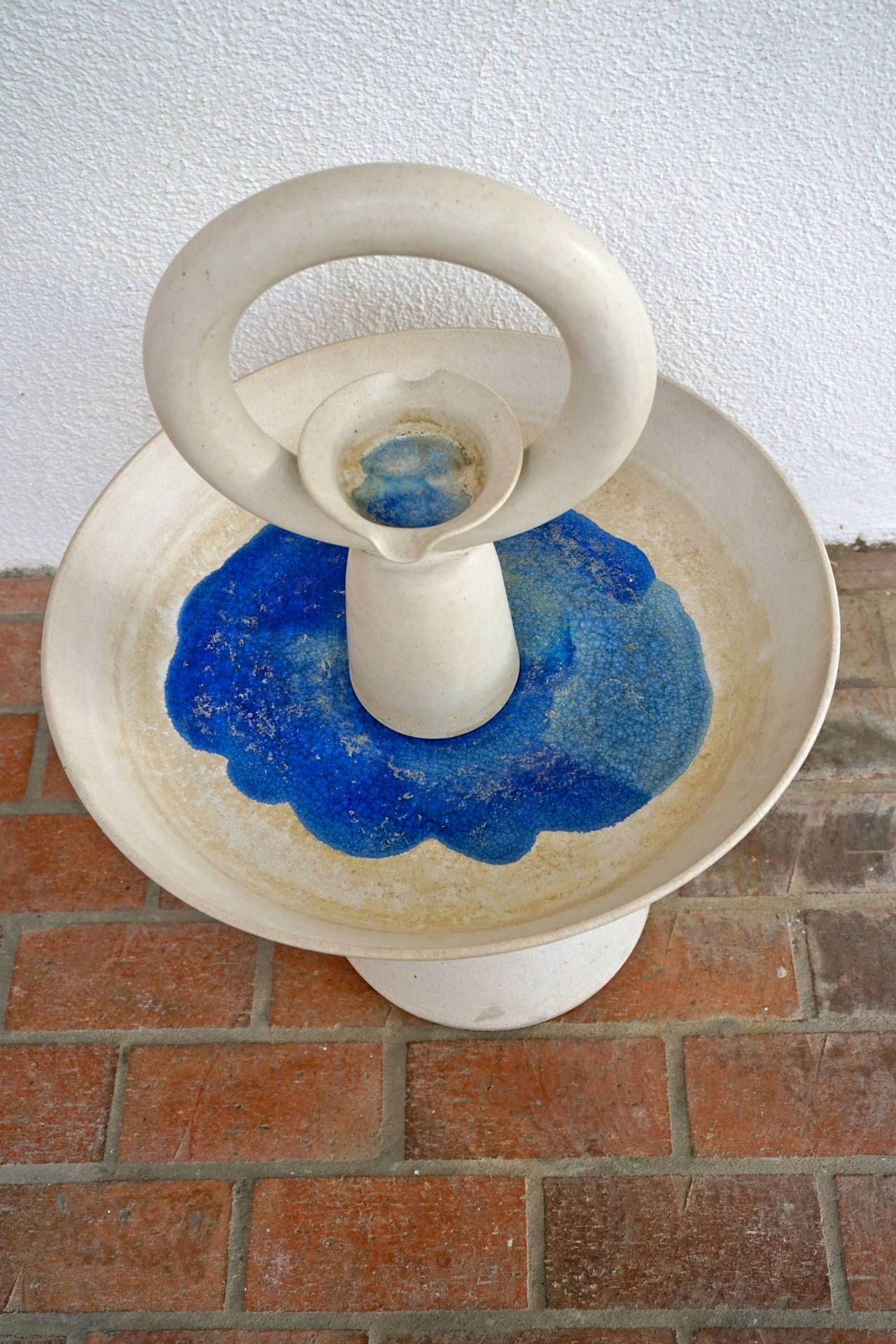 Glazed Ceramic Fountain From A Unique Collection Of Antique And Modern Fountains At Https