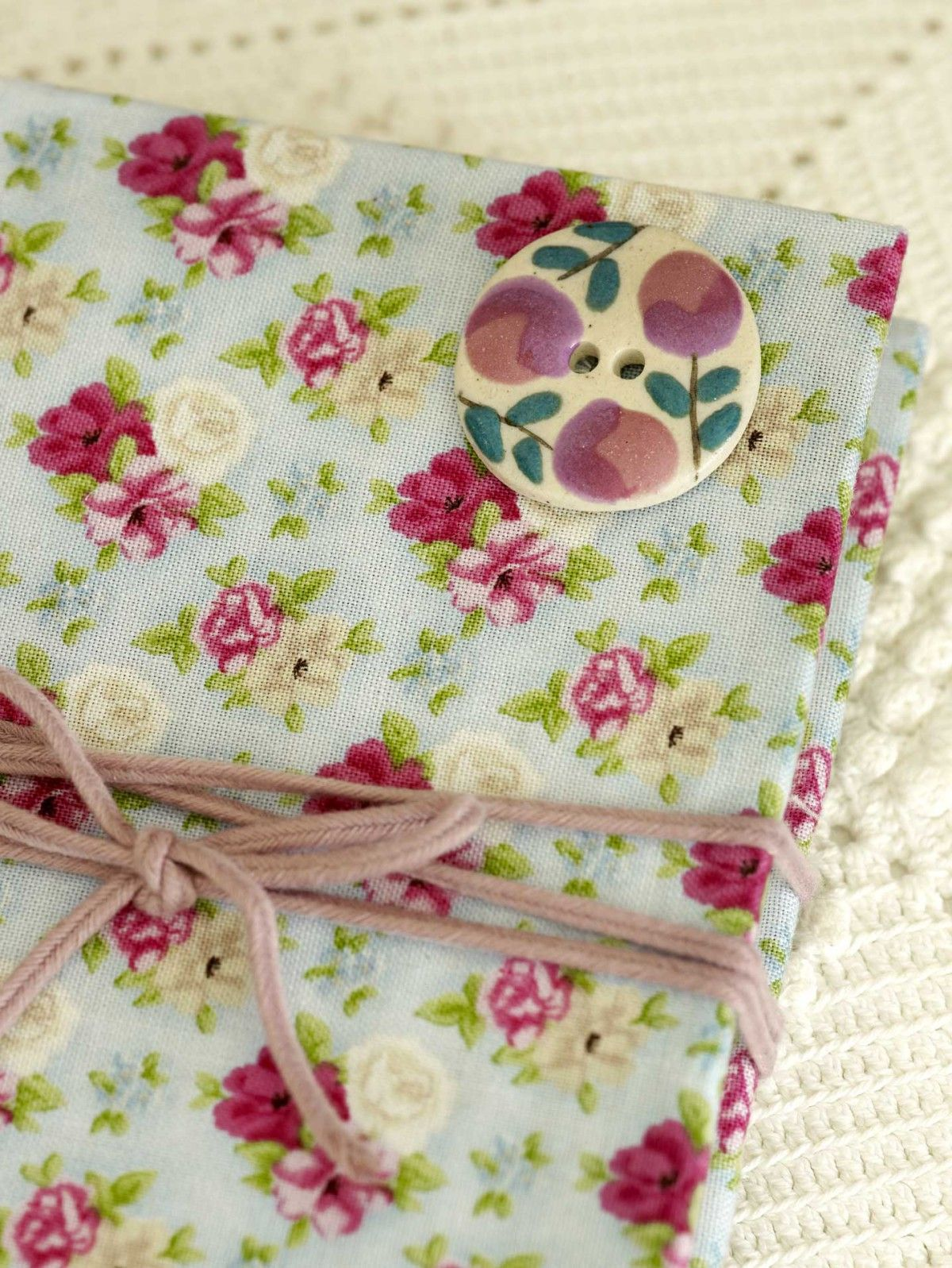 We've all seen those smart, covered notebooks in the shops – The good news is that these lovely fabric covered notebooks are really easy to make yourself.