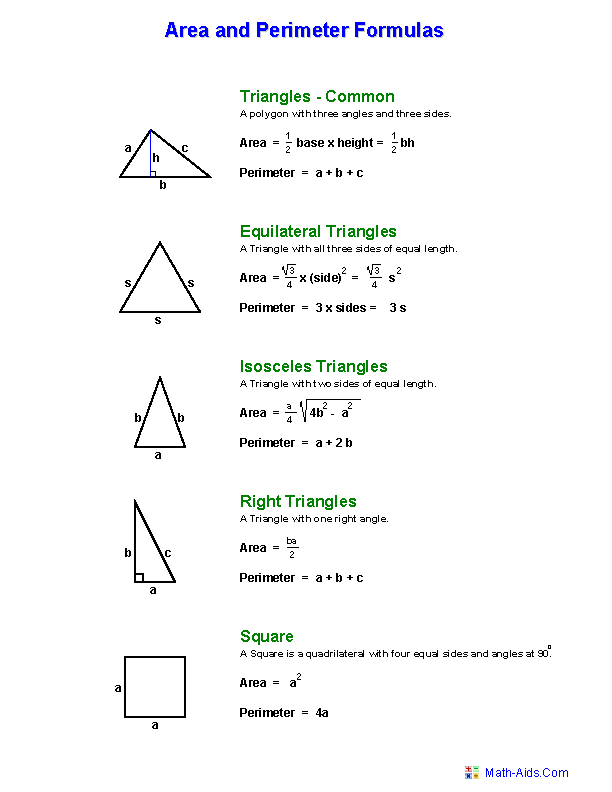 shapes and how to solve area