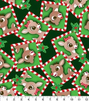 holiday fleece fabric 59 rudolph and clarice