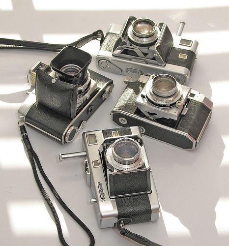 35mm from the 1950's: clockwise from top - Voigtlander Vitessa, Agfa Karat 36, Vitessa N and Kodak Retina IIc
