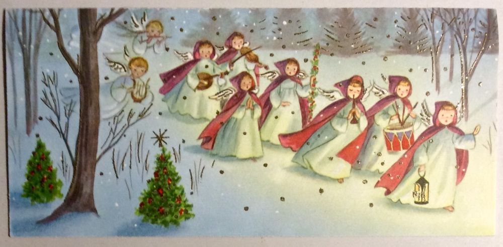 Pin by anita ferencz on rajzolt angyalok tndrek szt csald christmas greeting cards vintage greeting cards christmas greetings musical instruments vintage christmas plays vintage cards music instruments m4hsunfo