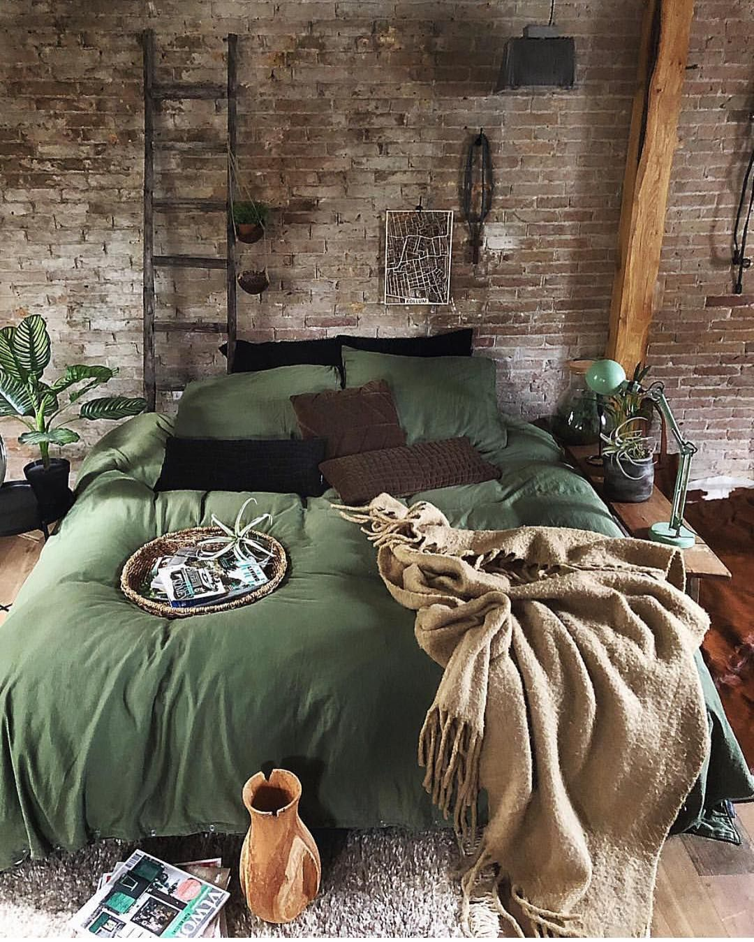 This Cosy Bedroom Is Looking Lush With Green Loveeee Helloplantlover Image By Jellinadetmar Bedroom Design Bedroom Decor House Interior
