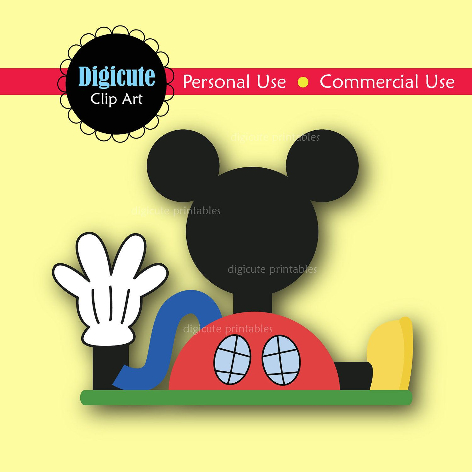Disney Mickey Mouse Clubhouse Digital CLIP ART by Digicute on Etsy ...
