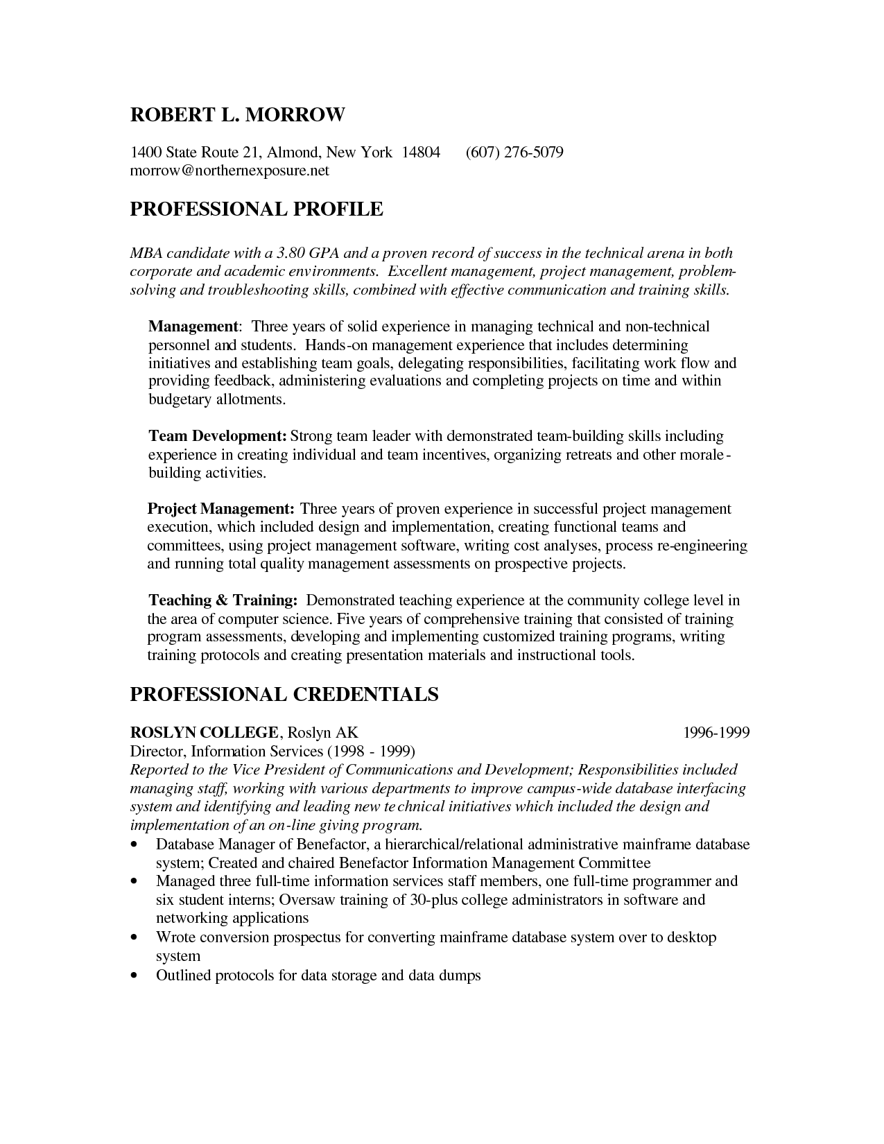 Example Of Professional Resume Pinjobresume On Resume Career Termplate Free  Pinterest