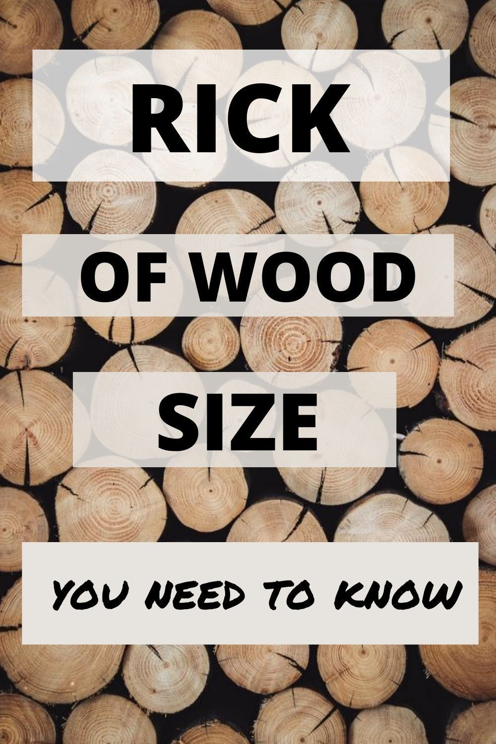 What Size Is A Rick Of Wood Detailed Guide In 2020 Wood Beginner Woodworking Projects Wood Working For Beginners