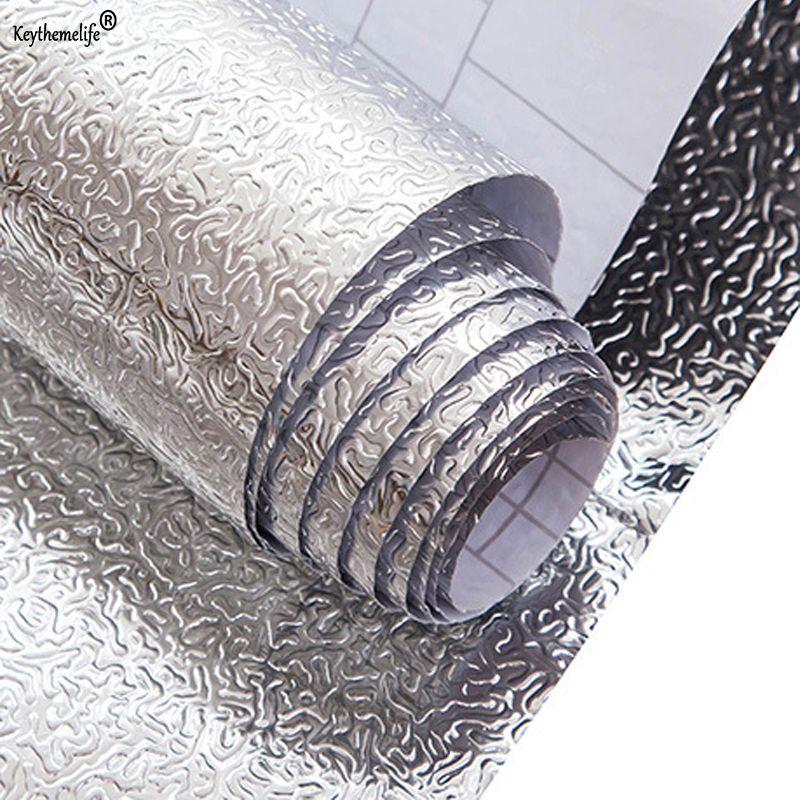 Papier daluminium papier cuisine huile autocollants imperm/éable /à leau humidit/é auto-adh/ésif cuisine armoire Pad papier peint papier