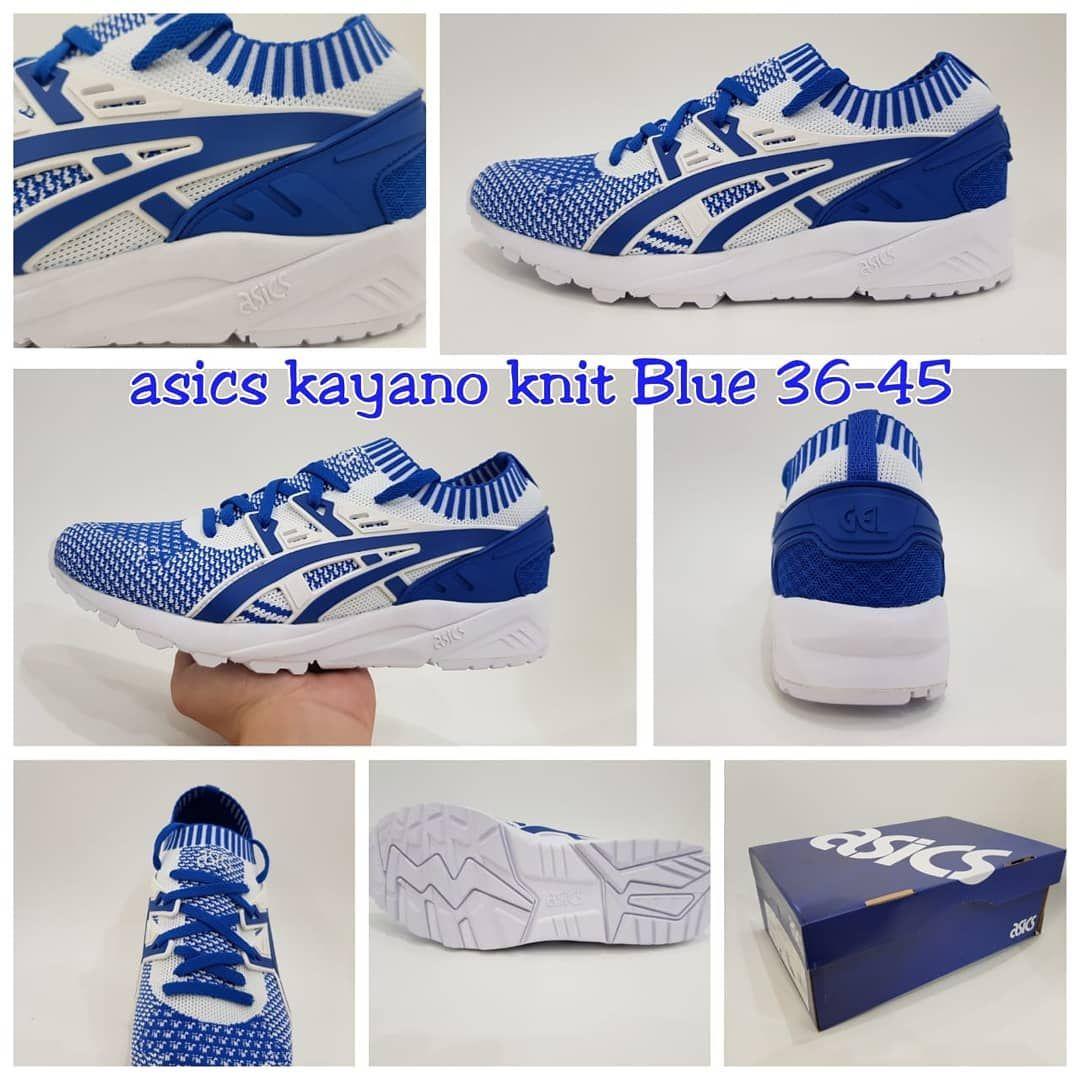 Sepatu Sneakers Unisex Pria Wanita Asics Kayano Knit Blue White For Love Amazoncom Running