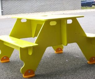 Flat Pack For Storage Plywood Picnic Table Diy Picnic Table Picnic Table Kids Picnic Table