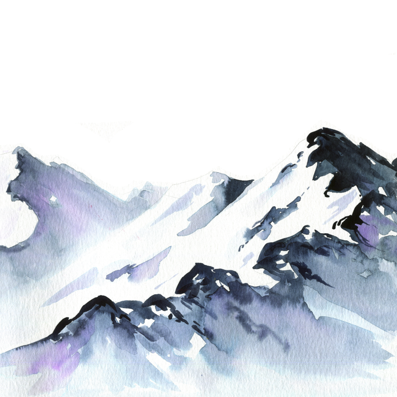 Pin By Shawn On Let S Make Art Watercolor Mountains Mountain Paintings Mountain Drawing