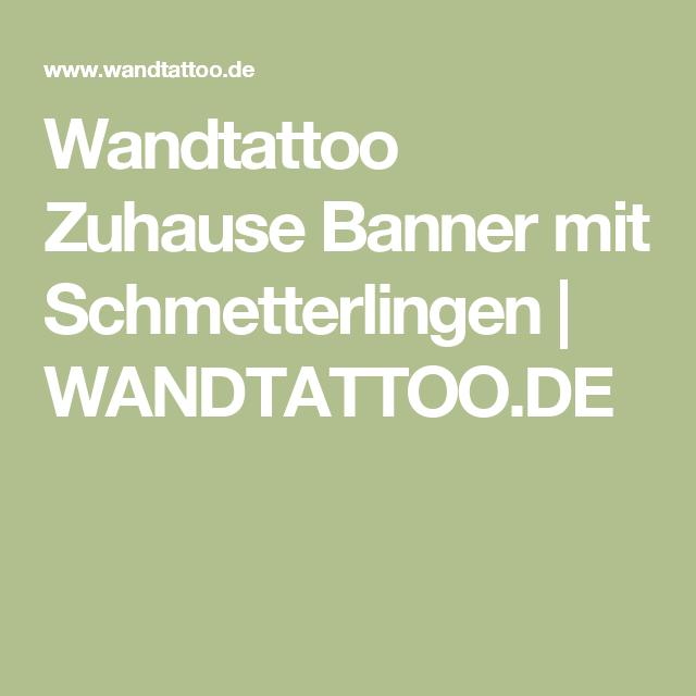 Hervorragend Wandtattoo Zuhause Banner Mit Schmetterlingen | WANDTATTOO.DE