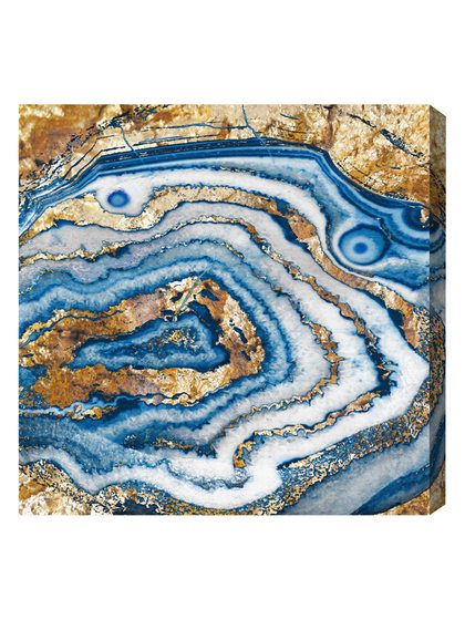 Bleu Agate (Canvas) by Oliver Gal at Gilt