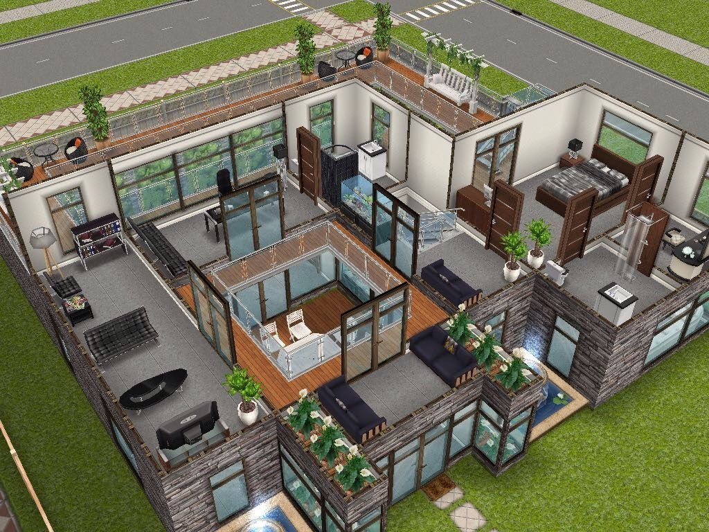 Exceptional House 54 Large Urban Loft (level 2) #sims #simsfreeplay #simshousedesign
