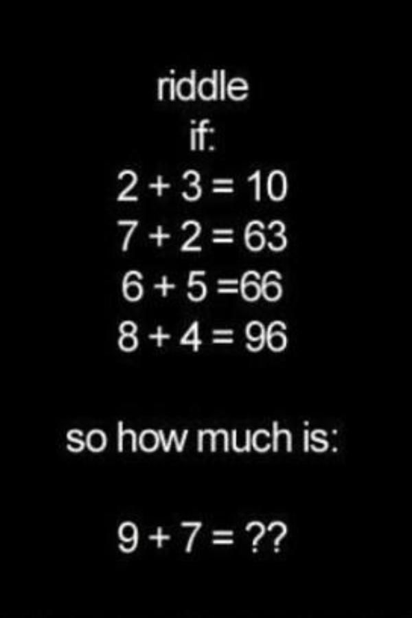 Try To Solve This Puzzle Maths And Post Answer Summerschool Ahsonlineschool Mathgames Maths Puzzles Math Riddles Math Riddles With Answers