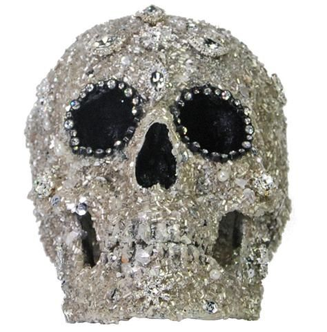 Rhinestone Skull Halloween Prop - Sophisticated Halloween - skull halloween decorations