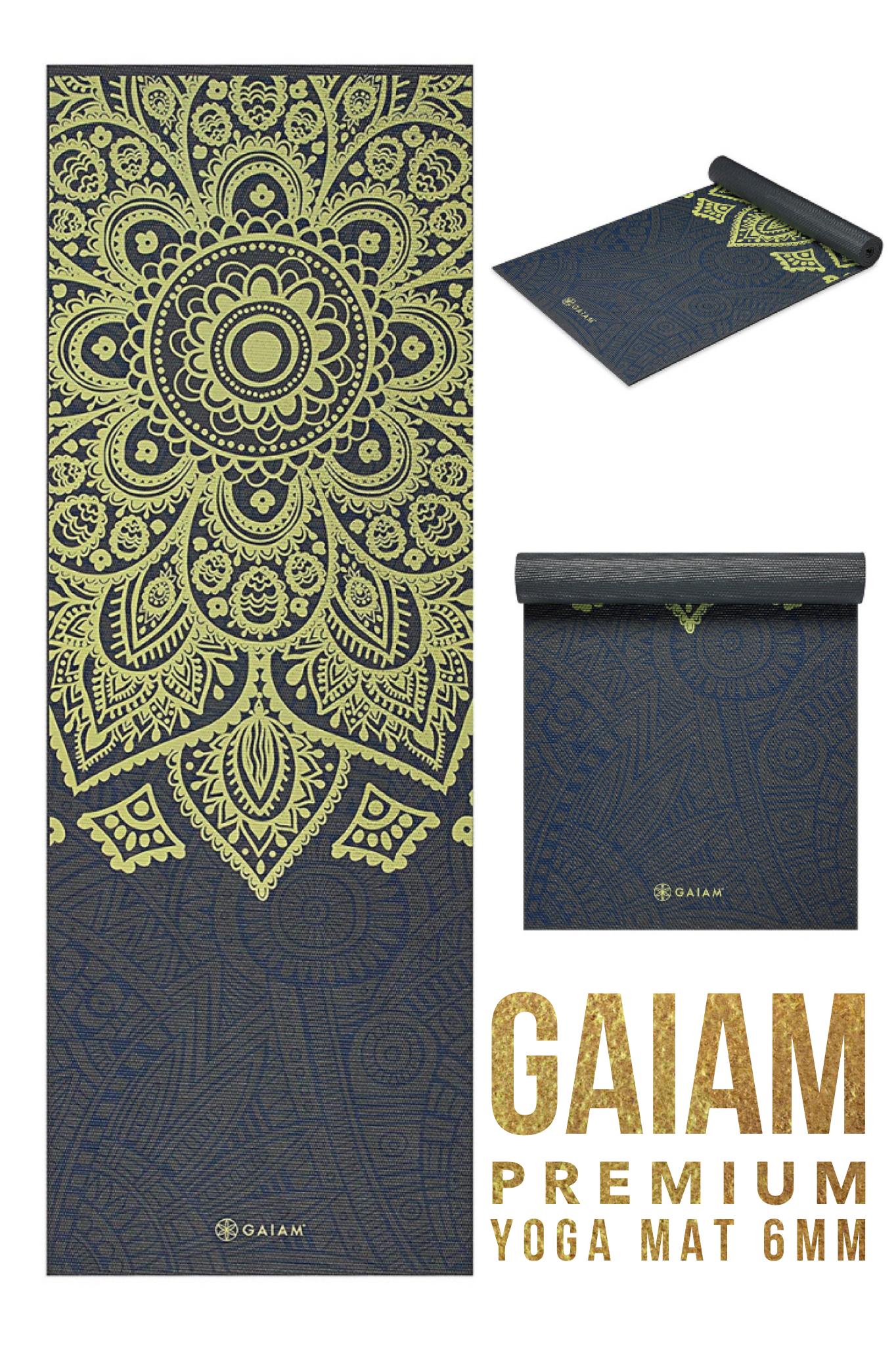 Premium Yoga Mat 6mm Gaiam Yoga Mat Floor Workouts Travel Workout