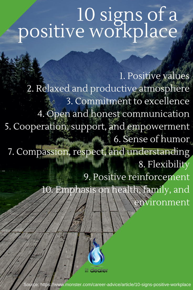10 Signs Of A Positive Workplace