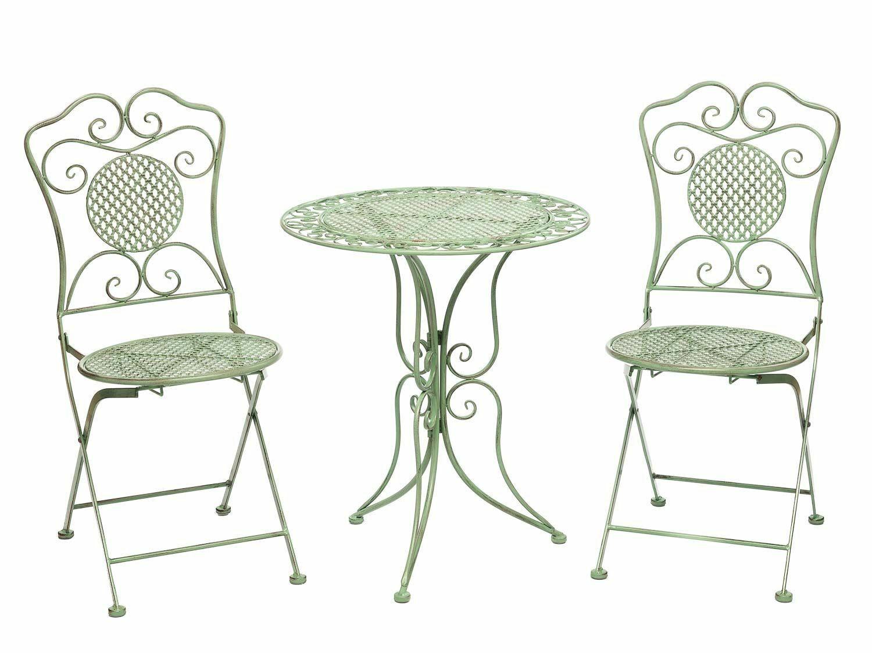 Gartenset Tisch Und 2 Stahle Eisen Antik Stil Gartenma