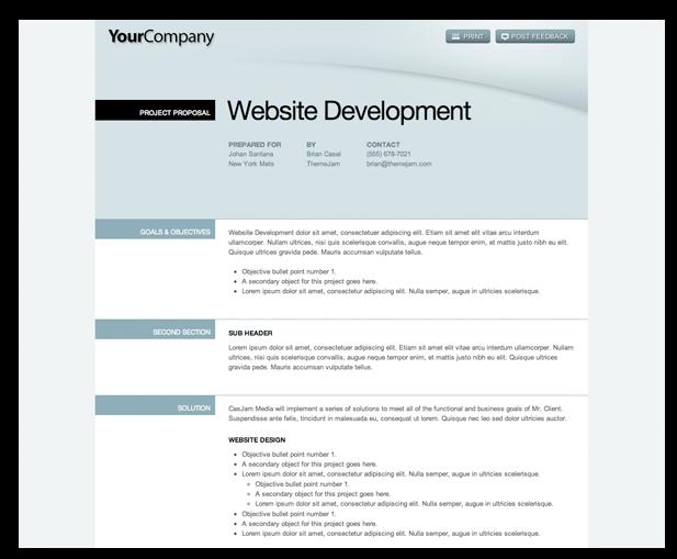 website development proposal sample