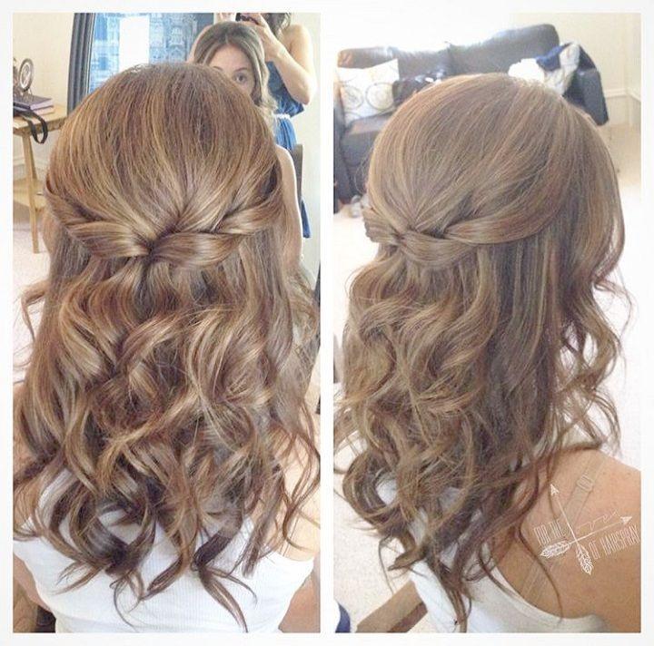 Wedding Hairstyles Gallery Wedding Hairstyles Thin Hair Hair Styles Curled Prom Hair Medium Length Hair Styles