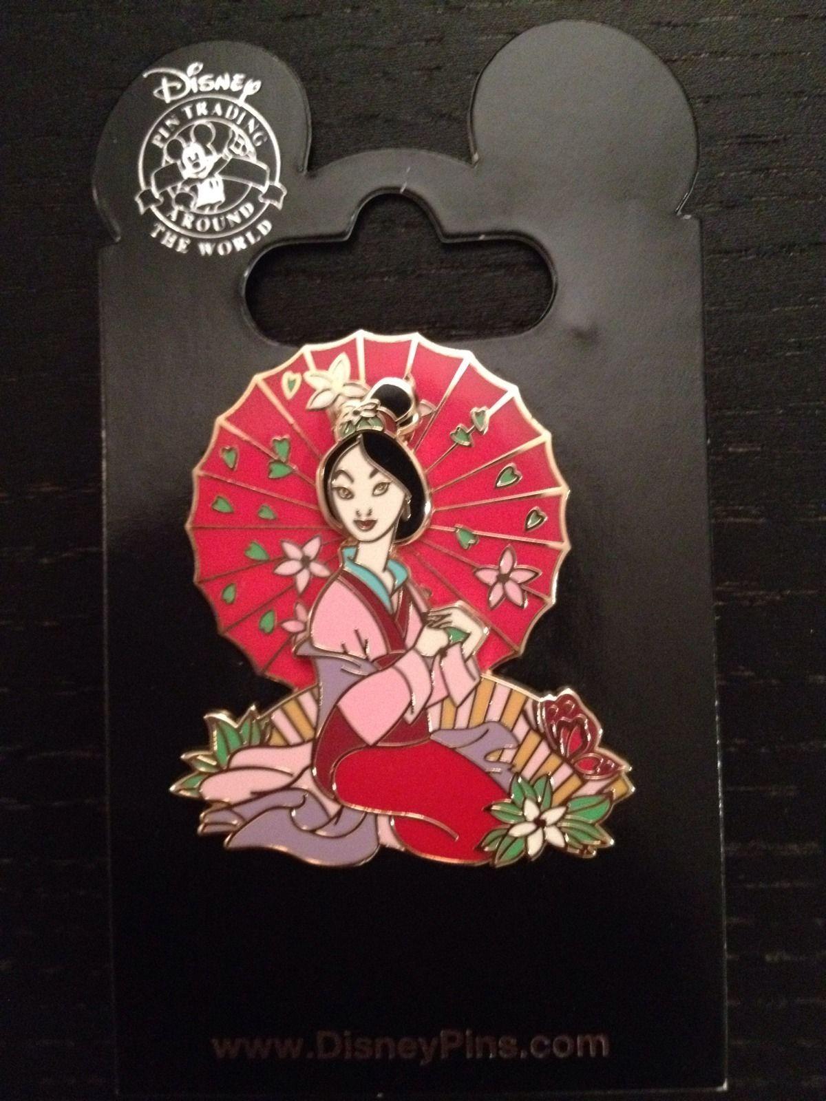 Disney Pin 54211: Mulan with Parasol (Spinner)   Disney ...