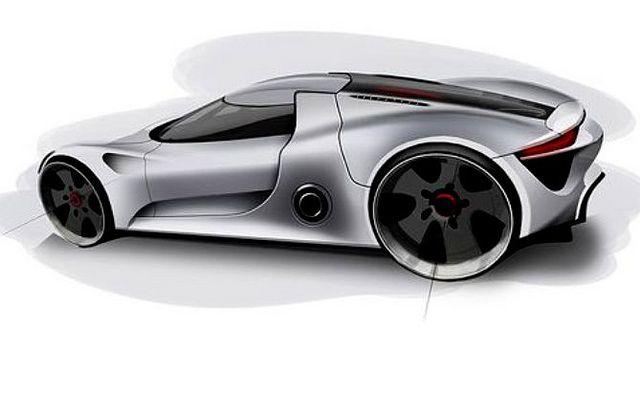Porsche spyder sketch car design diseno automotriz - Porche diseno ...