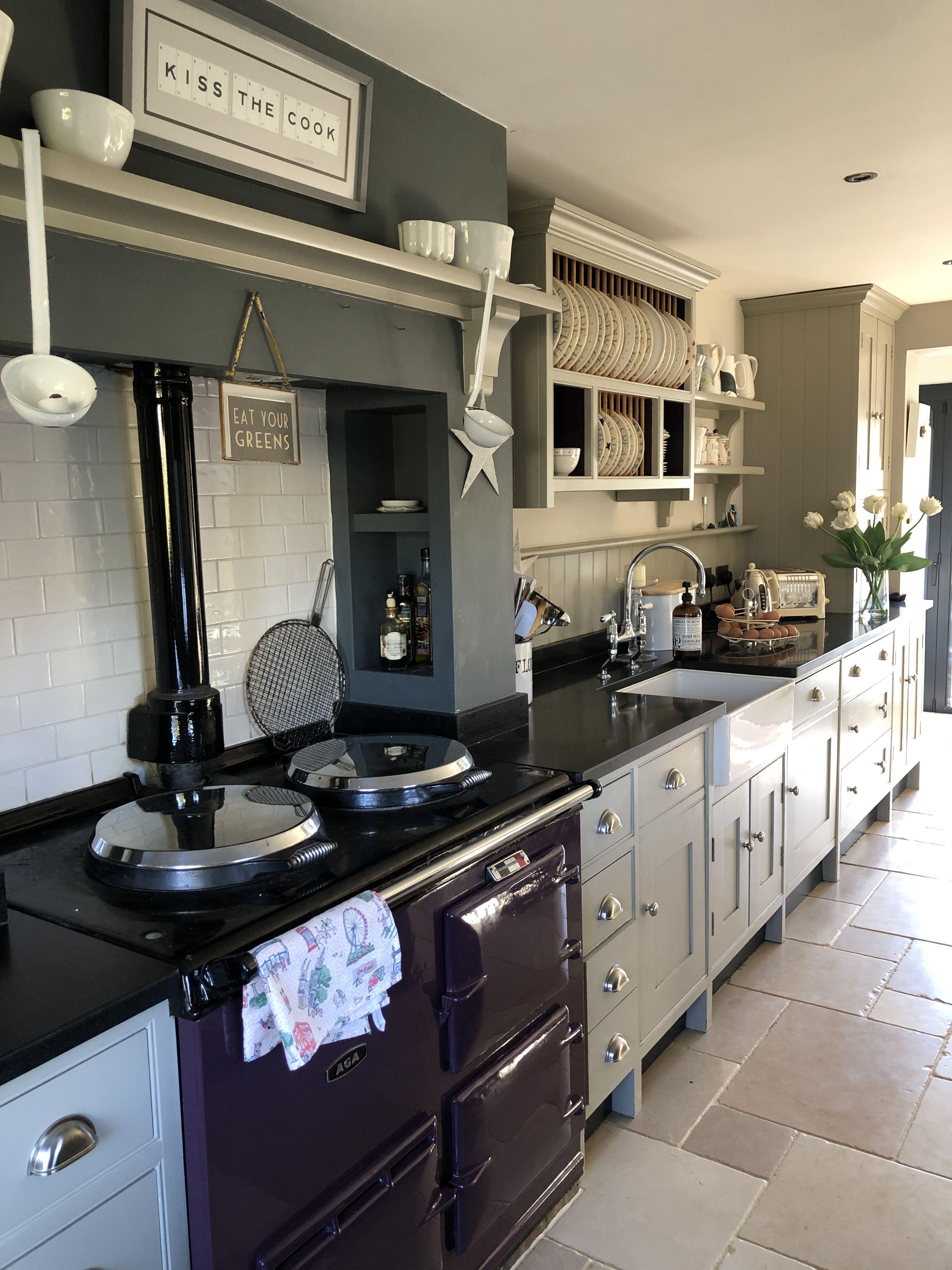 Best Shaker Style Kitchen Aga Farrow Ball Hardwick White 400 x 300