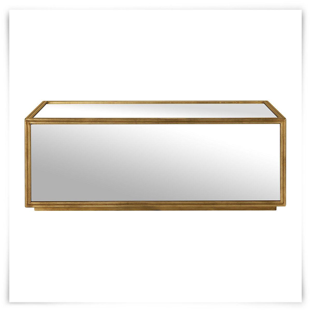 Jet Set Mirrored Rectangular Coffee Table 69995 Binks Living
