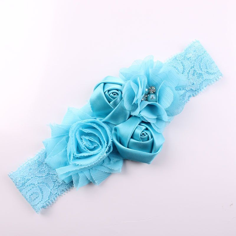 Shabby Lace Baby Headband Chic Flower Girls Headband Hair Bow Flower  Headband f3799d4aecc2