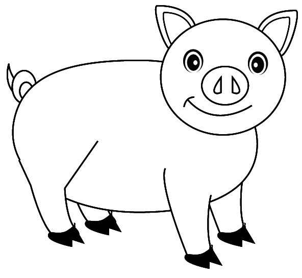 smile of the pig coloring pictures pig cartoon coloring pages