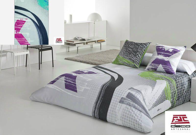 Funda nordica JVR FUTURE, diseñada para cuartos con toque futurista y elegante. Proxima disponibilidad en www.decoartesanalfdc.com